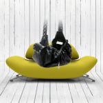 Black Leather Studded Sling