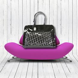 noir leather designer dog carrier