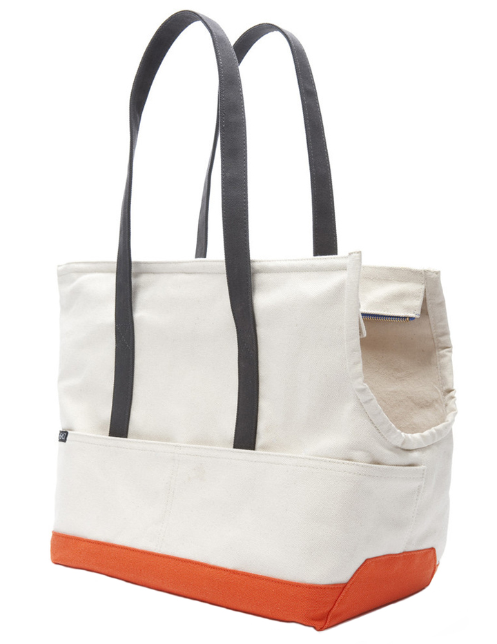 Canvas Dog Tote Natural Amp Orange Designer Dog