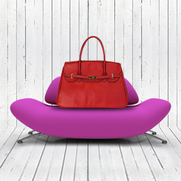 Katie Dog Carrier - Red Leather