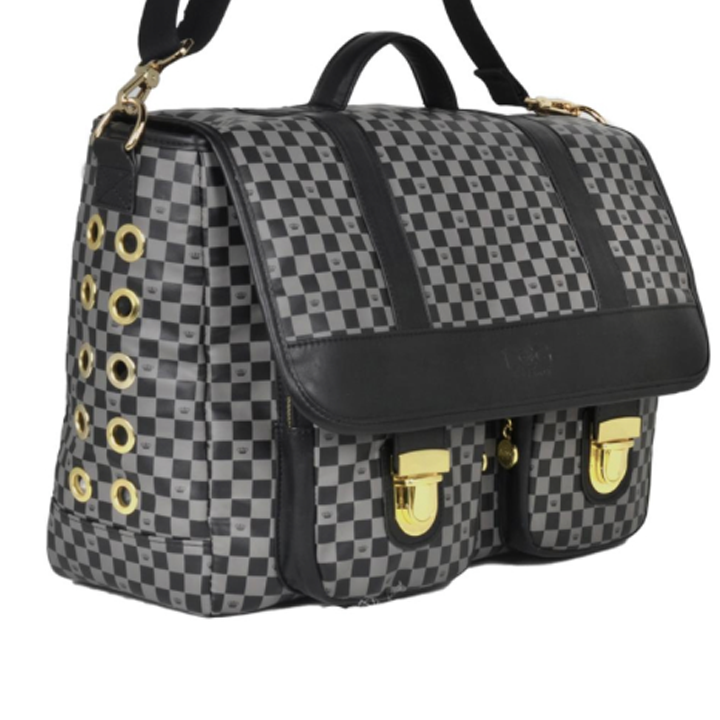 Luxe-Check-Messenger-Bag-Dog-Carrier2