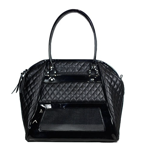black-haylee-dog-carrier-mesh-side
