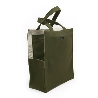 Olive green shopping bag dog tote